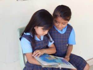 Sharing a book