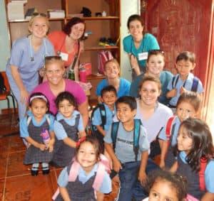 Minnesota brigade with Kindergarten children at Good Shepherd Bilingual School