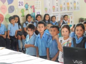 Wayne's visit to Bilingual School 088