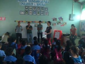 MAHEC brigade at the bilingual school
