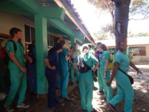 MAHEC brigade members at the bilingual school