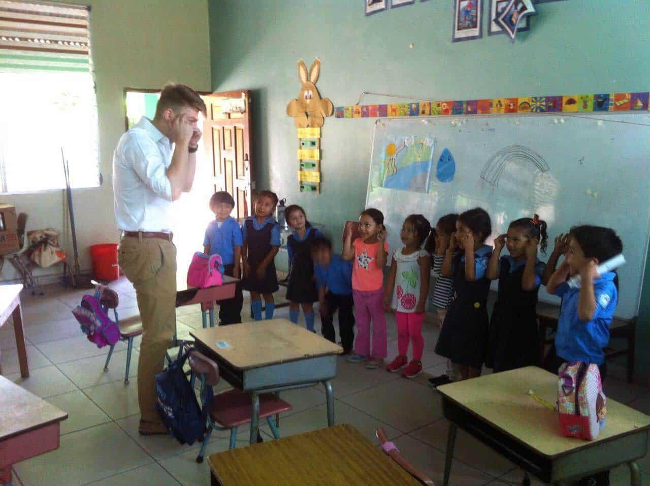 Ben in the classroom