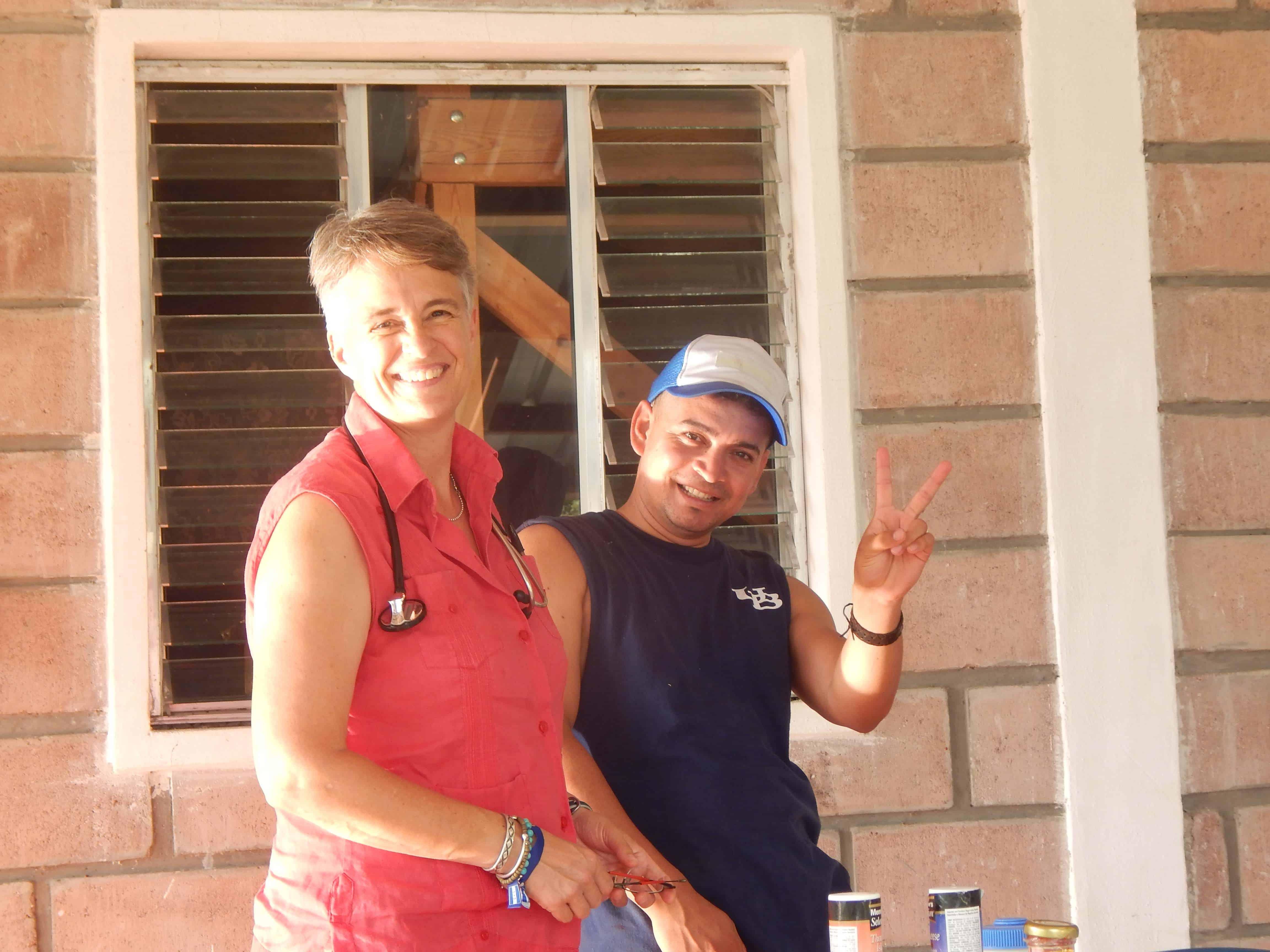 Dr. Emily Harrison and Moises Vallecillo, Brigade Coordinator